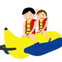 バナナボートは落ちないコツは?泳げない私でも落ちずに楽しめた方法!