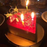 クリスマスケーキの二人分の大きさと目安。4号を二人で食べた感想。