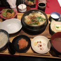 華味鳥海老名でランチ!昼からもつ鍋をがっつりと食べ、明太子をおかわりした。